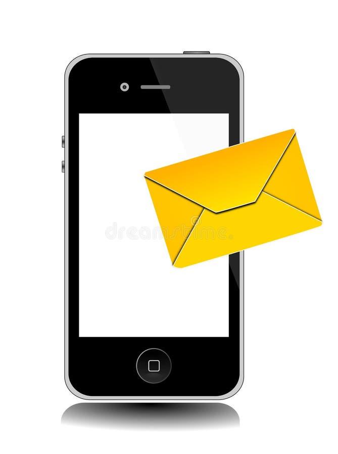 Ícone do telefone SMS ilustração royalty free