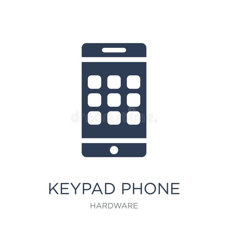 Ícone do telefone do teclado numérico Ícone liso na moda do telefone do teclado numérico do vetor no branco ilustração do vetor