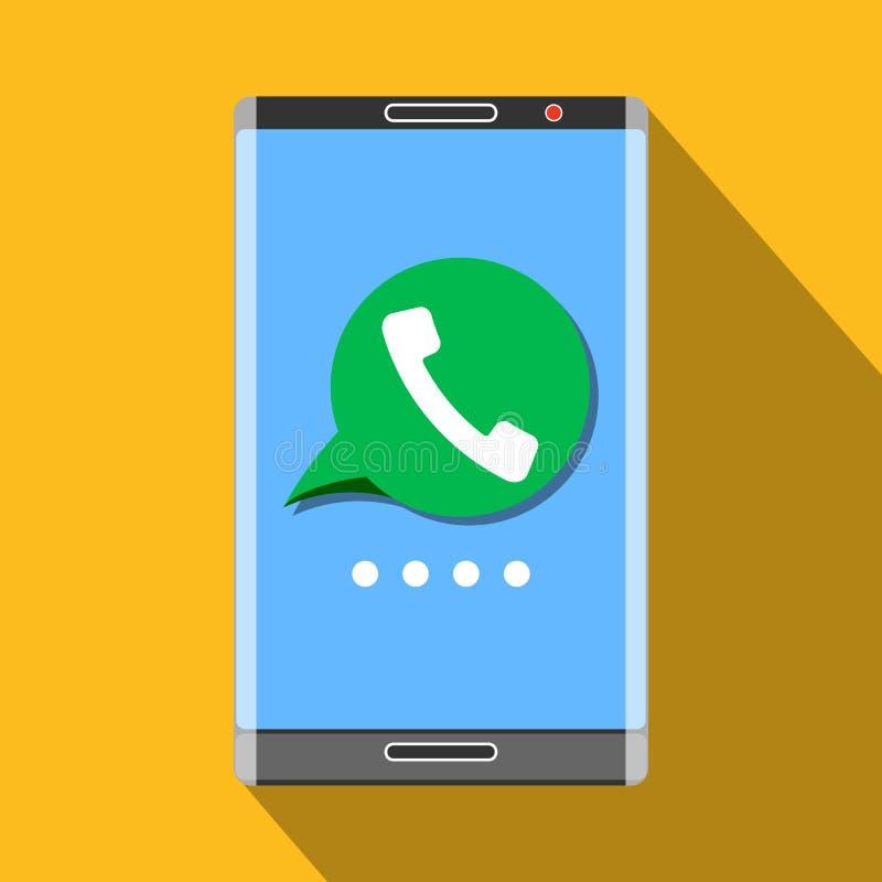 Ícone do telefonema ilustração stock