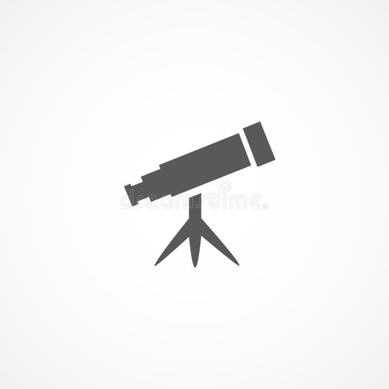Ícone do telescópio ilustração royalty free