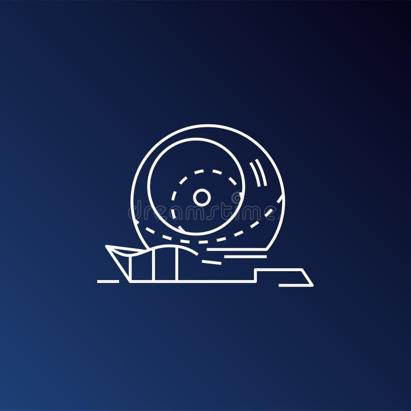 Ícone do telescópio do universo, ilustração celestial, sinal do obervatório, ícone da astronomia, foguete, ciência, espaço, galáx ilustração stock