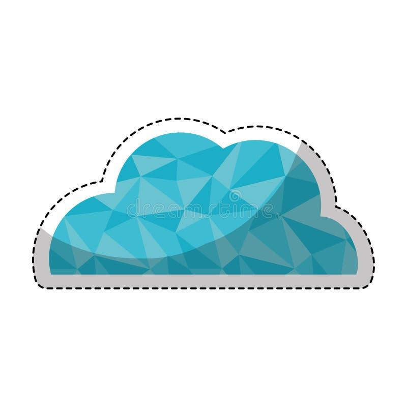 Ícone do tempo da nuvem ilustração stock