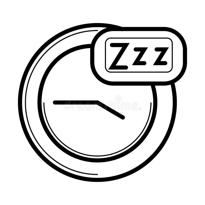 Ícone do tempo de sono ilustração royalty free