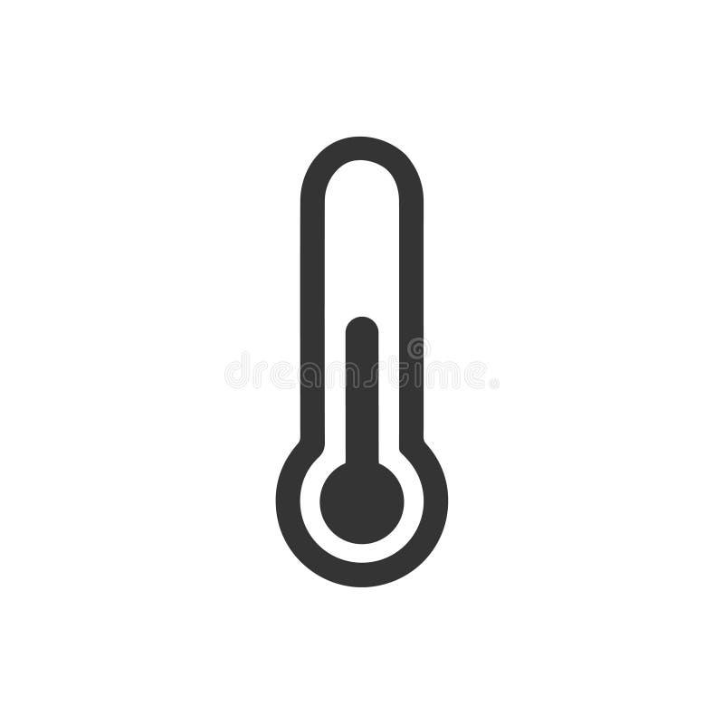 Ícone do termômetro ilustração royalty free