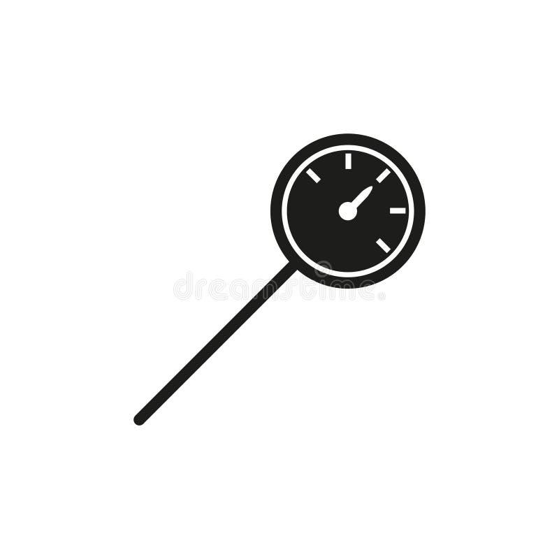 Ícone do termômetro da cozinha ilustração stock