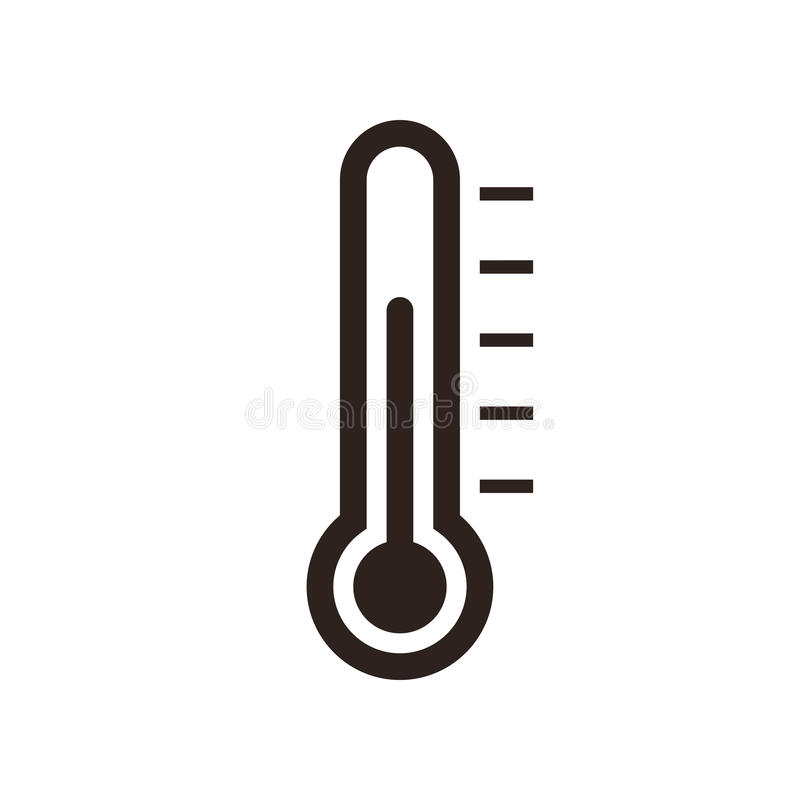 Ícone do termômetro ilustração stock
