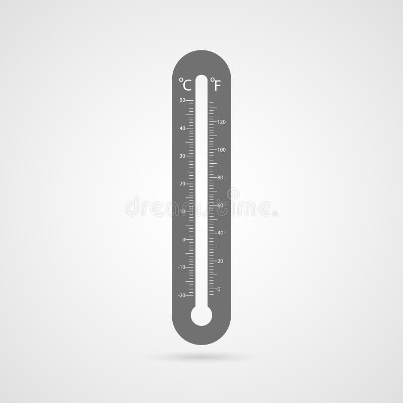 Ícone do termômetro do vetor. ilustração royalty free