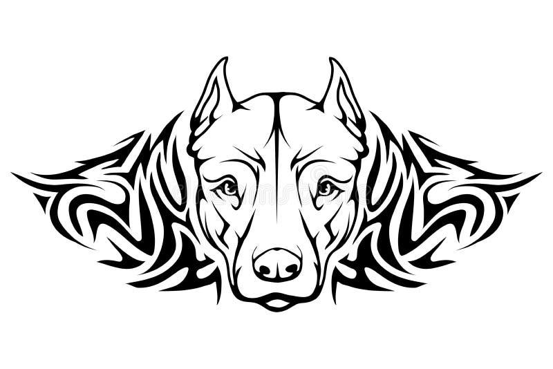 Ícone do terrier de pitbull ilustração royalty free