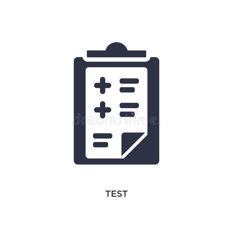 ícone do teste no fundo branco Ilustração simples do elemento do conceito do serviço ao cliente ilustração stock