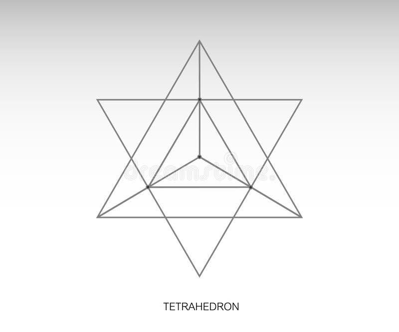 Ícone do tetraedro da estrela ilustração royalty free