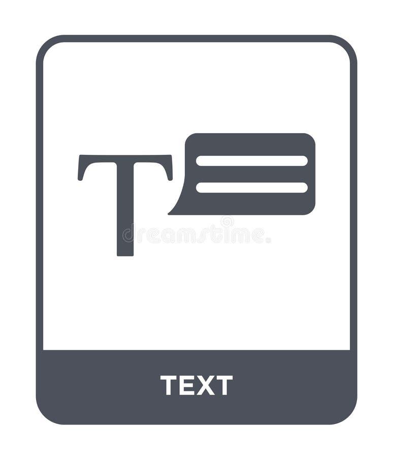 ícone do texto no estilo na moda do projeto Ícone do texto isolado no fundo branco símbolo liso simples e moderno do ícone do vet ilustração do vetor