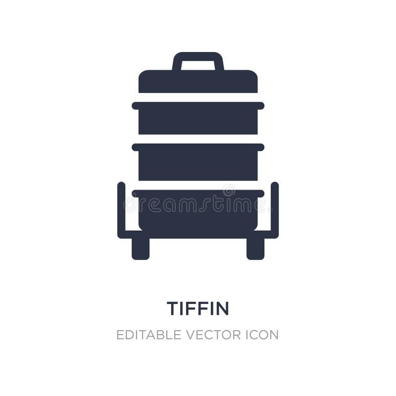 ícone do tiffin no fundo branco Ilustração simples do elemento do conceito do alimento ilustração royalty free