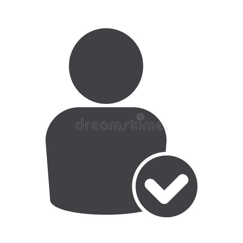 Ícone do tiquetaque dos povos, ícone do tiquetaque do usuário ilustração do vetor