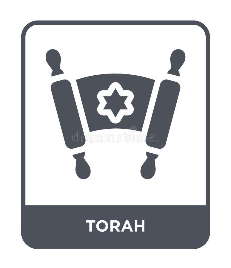 ícone do torah no estilo na moda do projeto ícone do torah isolado no fundo branco símbolo liso simples e moderno do ícone do vet ilustração stock