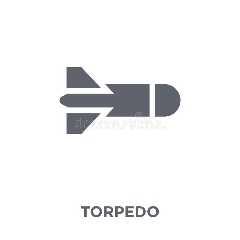 Ícone do torpedo da coleção do exército ilustração stock