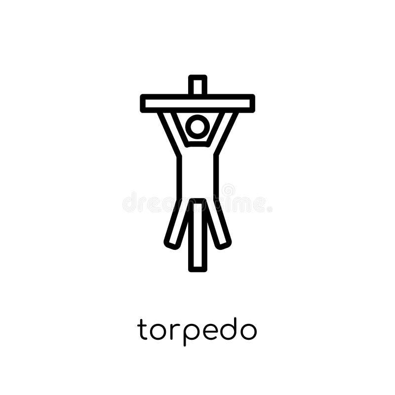 Ícone do torpedo da coleção do exército ilustração do vetor
