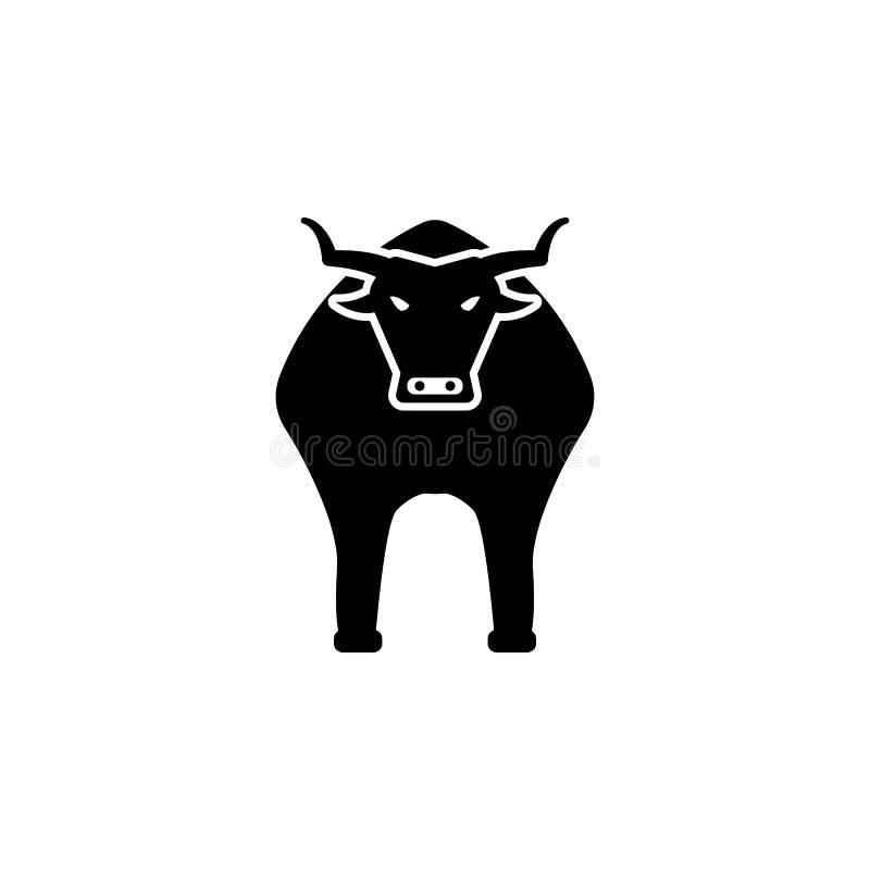 ícone do touro Elemento da cultura do ícone de spain Ícone superior do projeto gráfico da qualidade Sinais e ícone da coleção dos ilustração stock