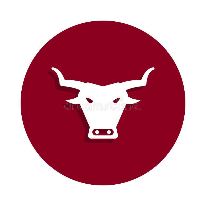 ícone do touro no estilo do crachá Um do ícone da coleção de spain pode ser usado para UI, UX ilustração royalty free