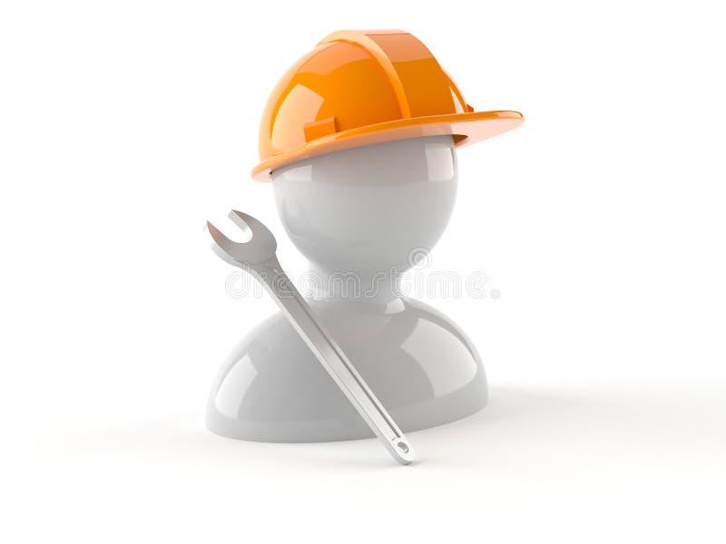 Ícone do trabalhador manual ilustração do vetor