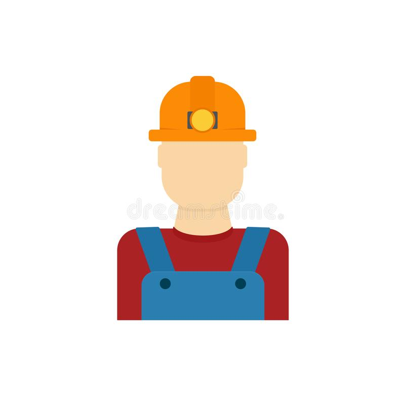Ícone do trabalhador do mineiro de carvão ilustração do vetor