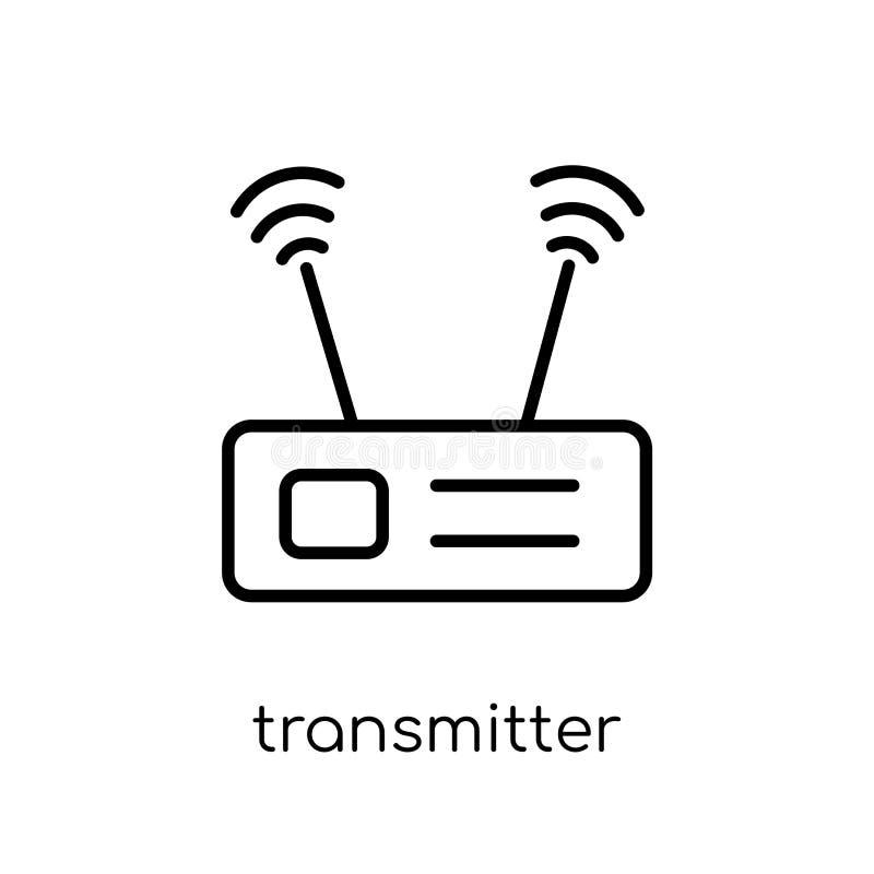 Ícone do transmissor da coleção de uma comunicação ilustração do vetor