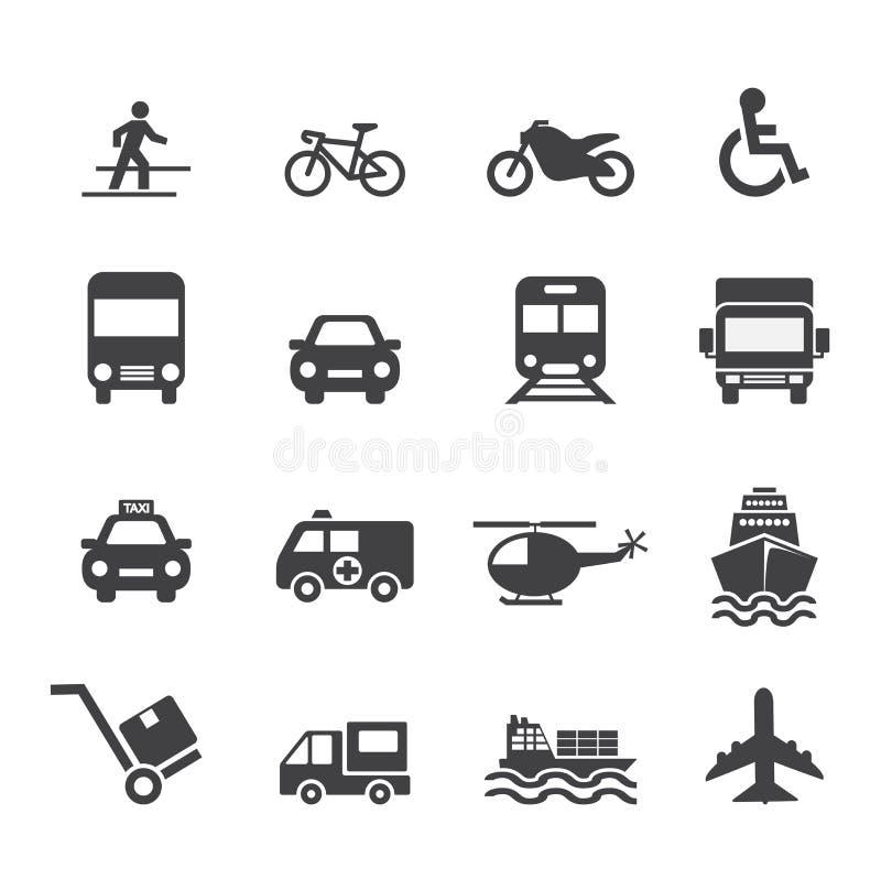 Ícone do transporte ilustração stock