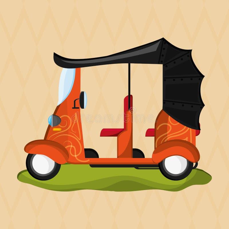 Ícone do transporte Conceito retro ilustração do carro, vetor editável ilustração do vetor