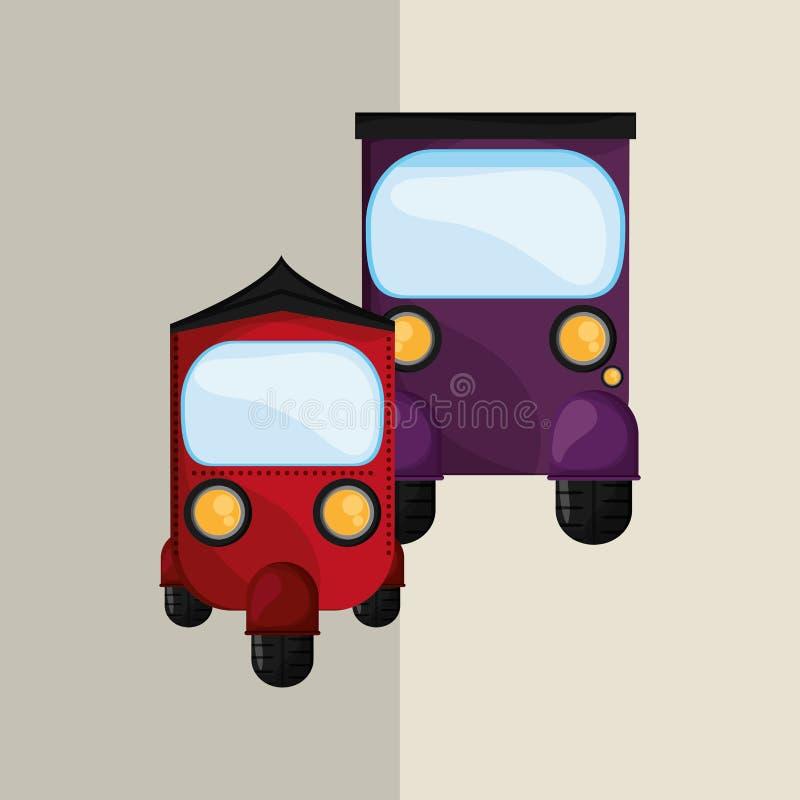 Ícone do transporte Conceito retro ilustração do carro, vetor editável ilustração royalty free