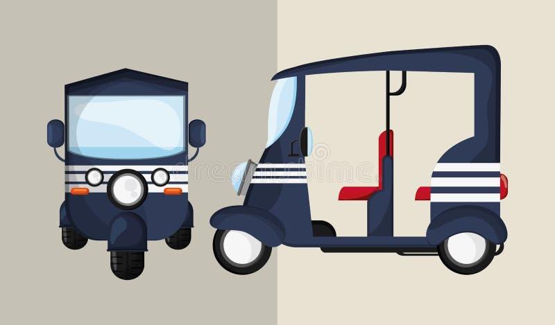 Ícone do transporte Conceito retro ilustração do carro, vetor editável ilustração stock