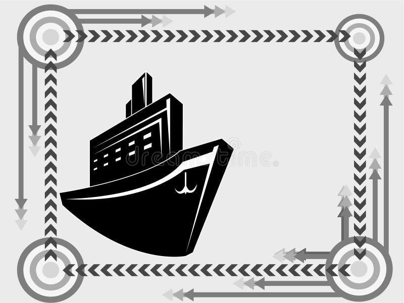 Ícone do transporte do navio ilustração do vetor