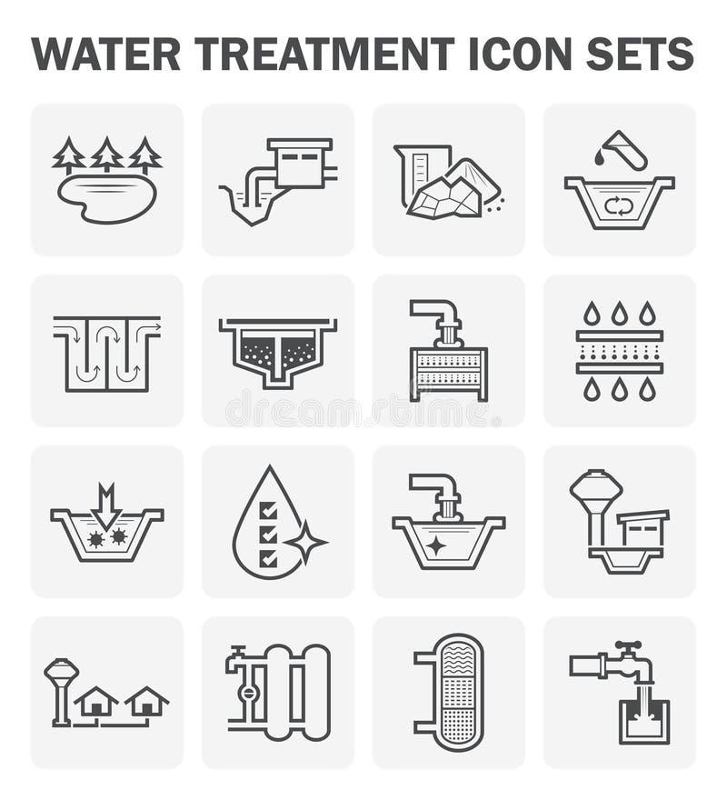 Ícone do tratamento da água ilustração stock