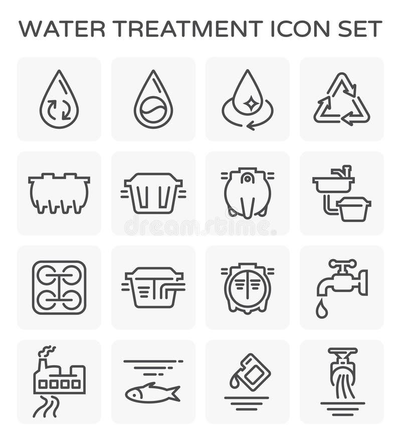 Ícone do tratamento da água ilustração do vetor