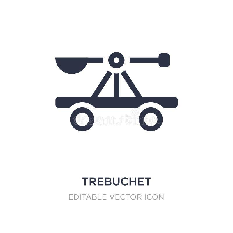 ícone do trebuchet no fundo branco Ilustração simples do elemento do conceito das culturas ilustração stock