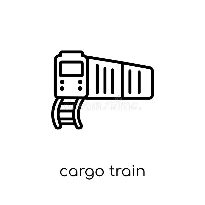 Ícone do trem da carga da entrega e da coleção logística ilustração do vetor