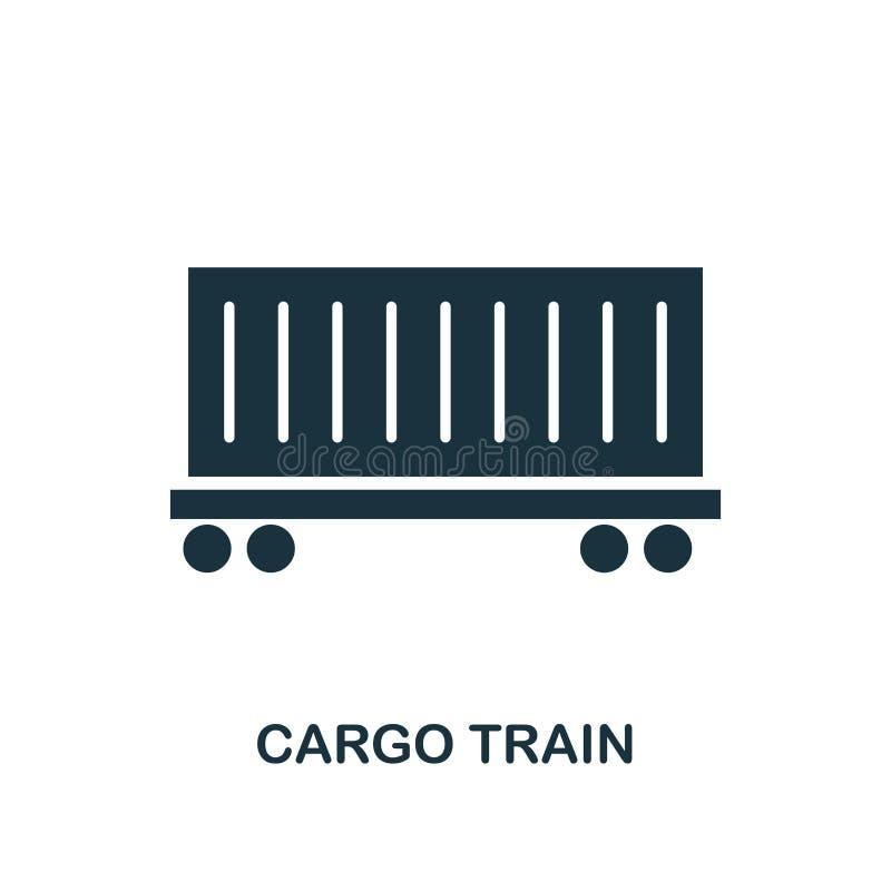 Ícone do trem da carga Projeto monocromático do estilo da coleção do ícone da entrega da logística Ui Trem simples perfeito da ca ilustração do vetor