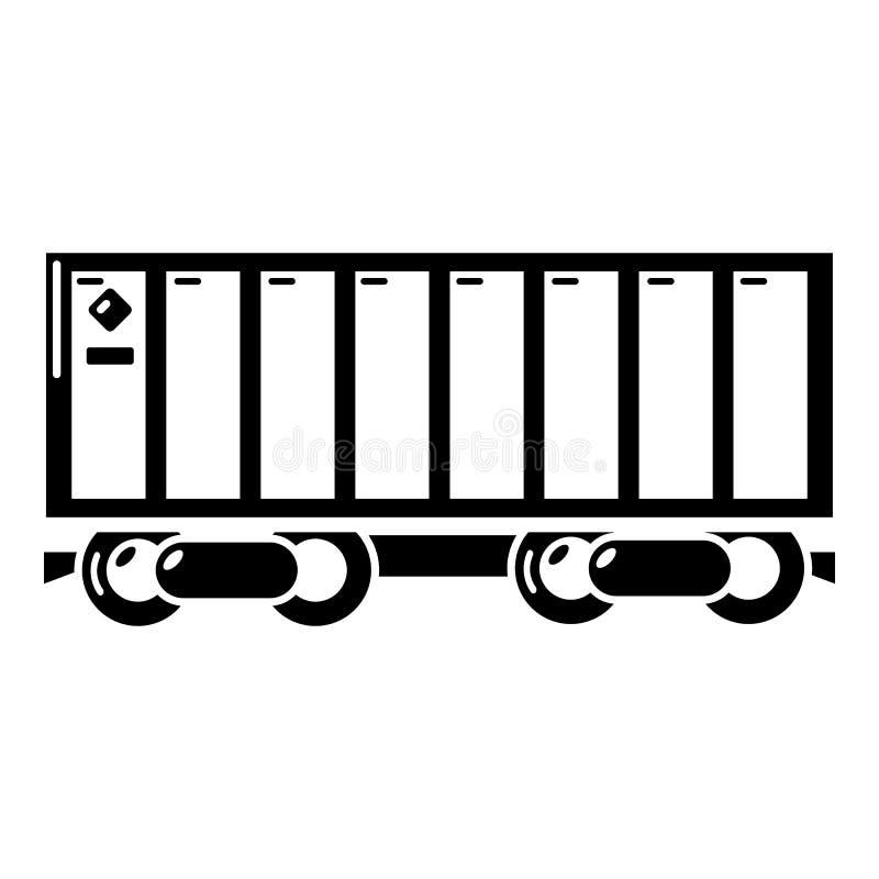 Ícone do trem de mercadorias, estilo simples ilustração do vetor