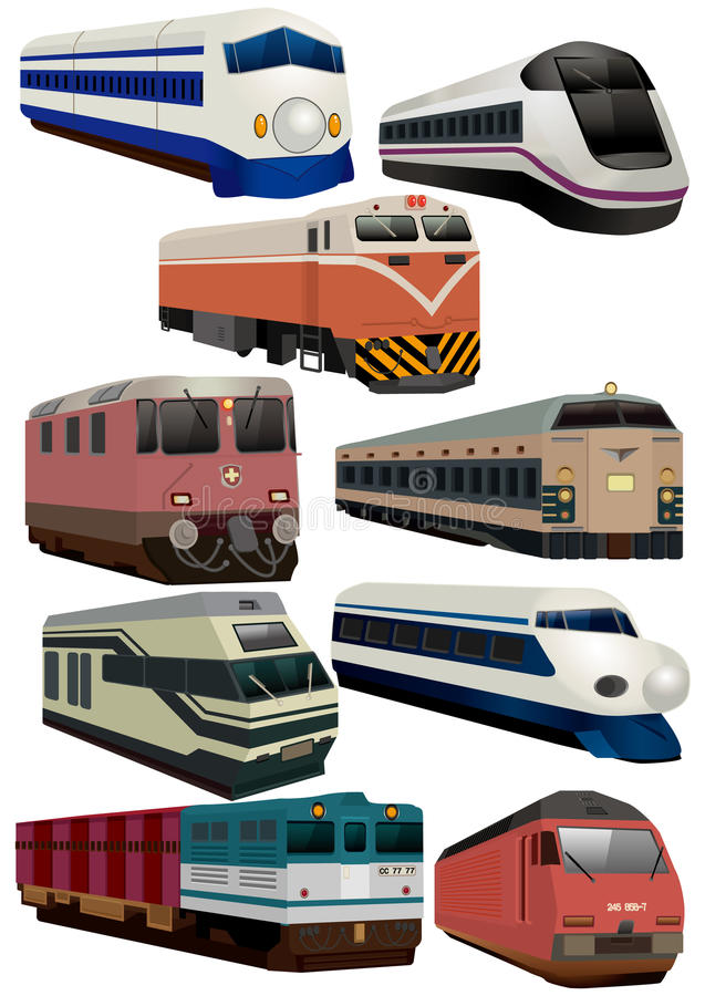 Ícone do trem dos desenhos animados