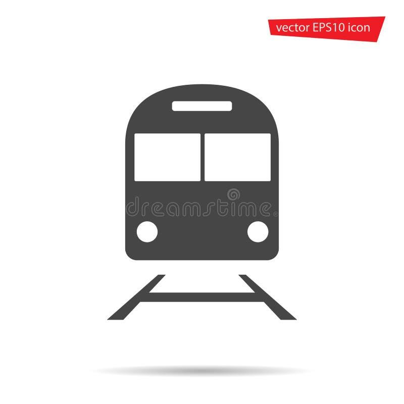 Ícone do trem isolado Pictograma liso moderno do metro, negócio, mercado, conceito do Internet Simp na moda ilustração royalty free