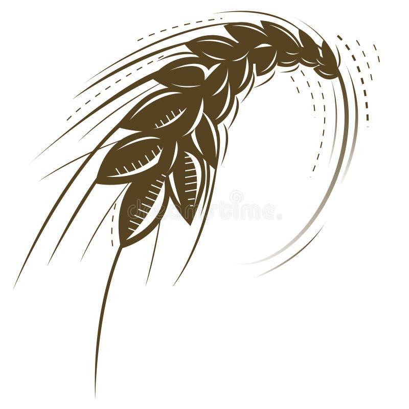 Ícone do trigo ilustração stock
