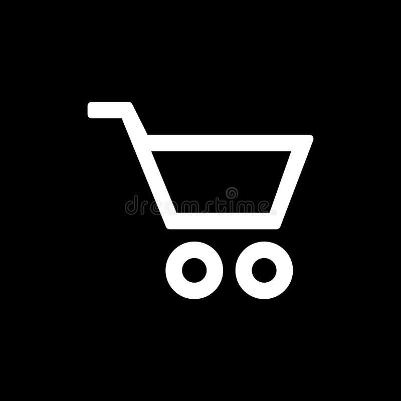 Ícone do trole do cesto de compras para o projeto liso simples do ui do estilo ilustração royalty free