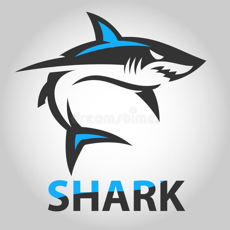 ícone do tubarão da imagem do vetor imagem de stock