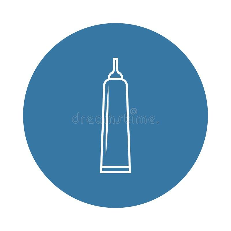 ícone do tubo da colagem Elemento de ícones da garrafa para apps móveis do conceito e da Web O ícone do tubo da colagem do estilo ilustração royalty free