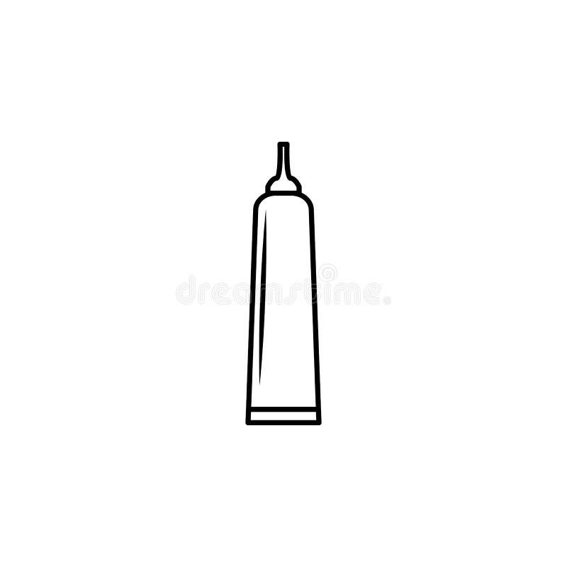 ícone do tubo da colagem Elemento da garrafa para apps móveis do conceito e da Web Linha fina ícone para o projeto do Web site e  ilustração stock