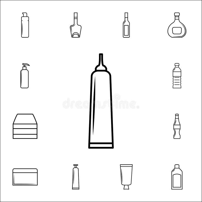 ícone do tubo da colagem Engarrafe o grupo universal dos ícones para a Web e o móbil ilustração do vetor