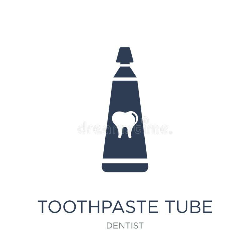 Ícone do tubo de dentífrico Ícone liso na moda do tubo de dentífrico do vetor sobre ilustração royalty free