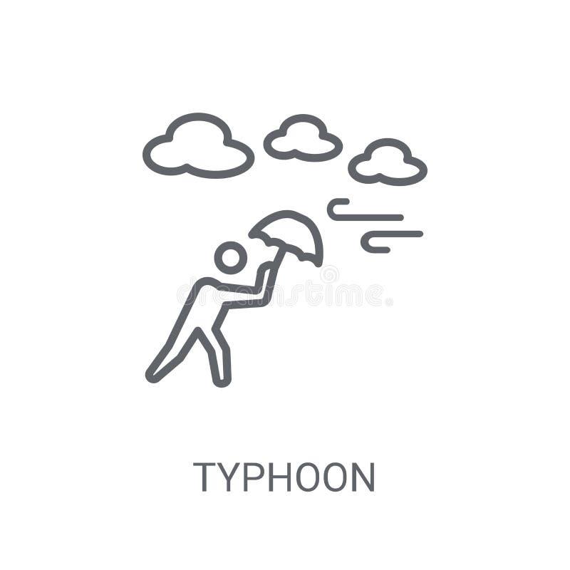 ícone do tufão Conceito na moda do logotipo do tufão no fundo branco franco ilustração royalty free