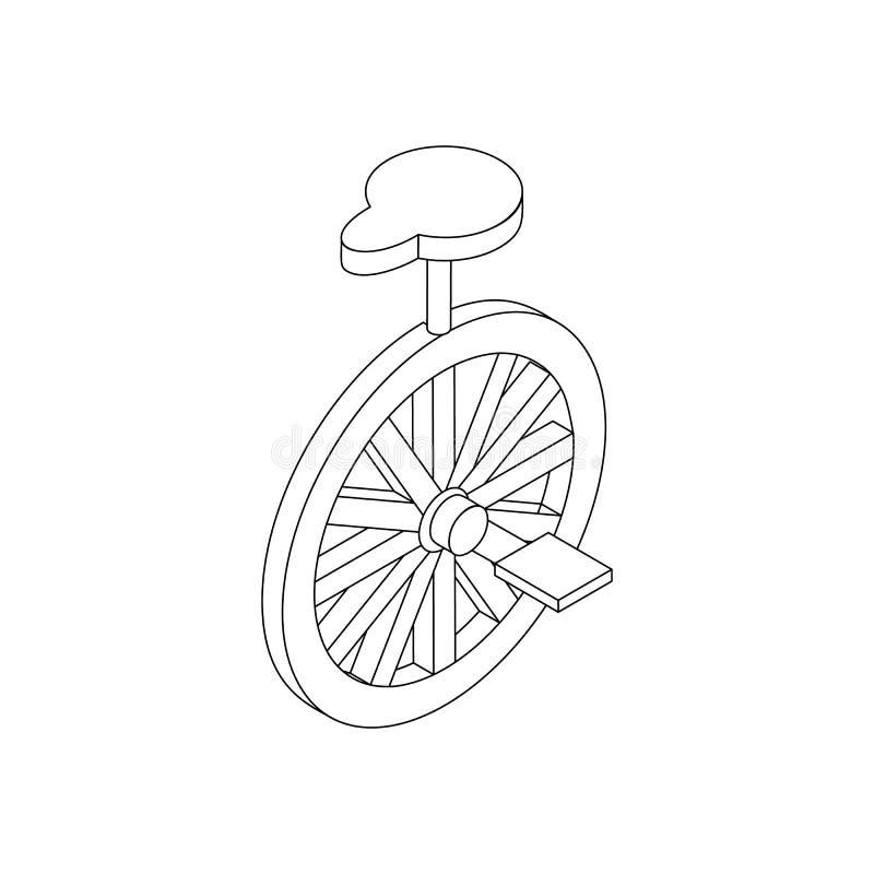 Ícone do Unicycle, 3d isométrico ilustração royalty free