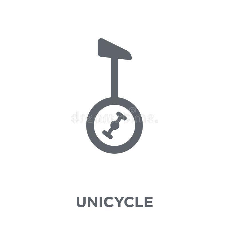 Ícone do Unicycle da coleção do circo ilustração royalty free