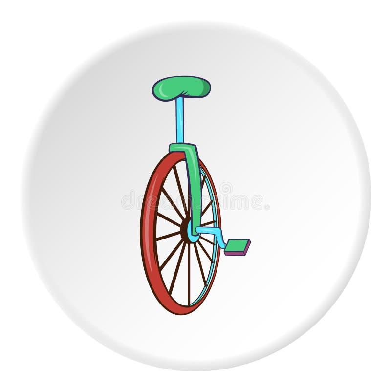 Ícone do Unicycle, estilo dos desenhos animados ilustração do vetor