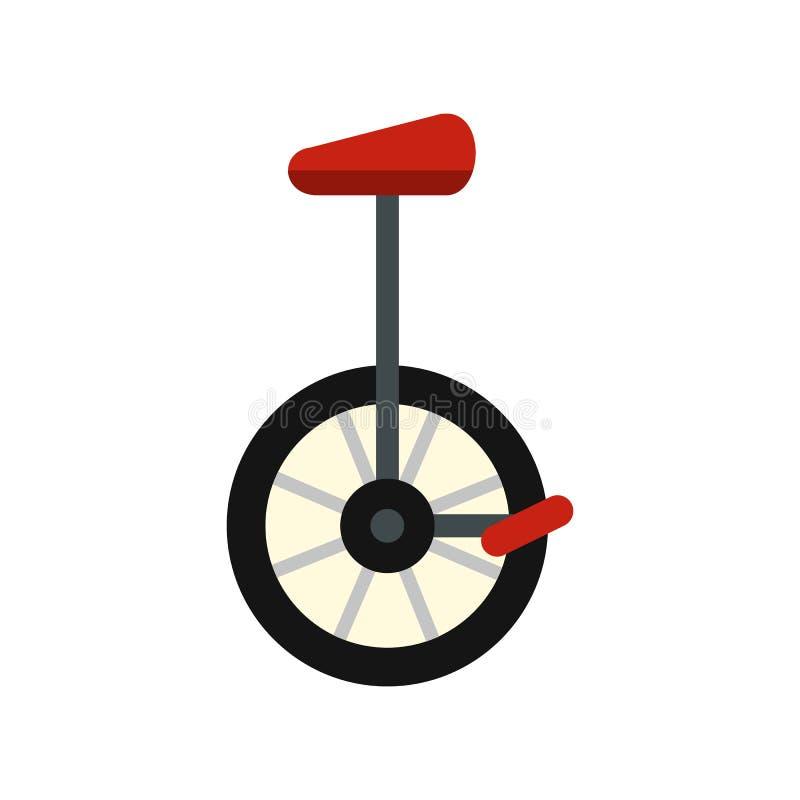 Ícone do Unicycle, estilo liso ilustração royalty free